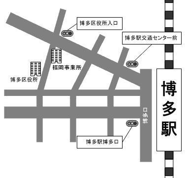 福岡事業所の地図